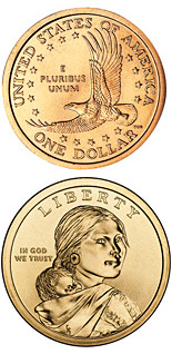 1 dollar coin Sacagawea dollar | USA 2000