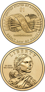 1 dollar Great Tree of Peace  - 2010 - Series: Native American Dollar Coin Program - USA