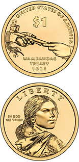 1 dollar Diplomacy—Treaties with Tribal Nations  - 2011 - Series: Native American Dollar Coin Program - USA