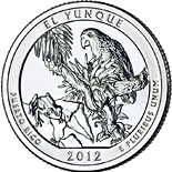 25 cents El Yunque National Forest  – Puerto Rico - 2012 - Series: America the Beautiful Quarters - USA