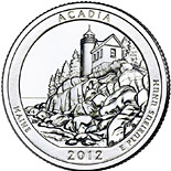 25 cents coin Acadia National Park – Maine | USA 2012
