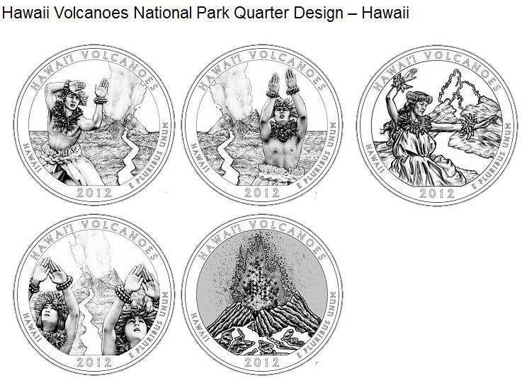 25 cents coin  u2013 hawaii volcanoes national park  u2013 hawaii