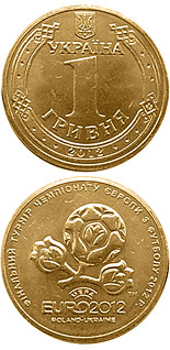 1 hryvnia  coin UEFA Euro 2012TM Final Tournament | Ukraine 2012