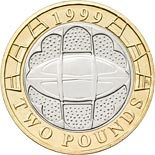 2 pound coin Rugby World Cup | United Kingdom 1999