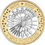 2 pound coin 400th anniversary of the Gunpowder Plot | United Kingdom 2005