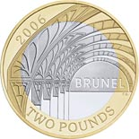 2 pounds Bicentenary of the birth of Isambard Kingdom Brunel - Paddington Station - 2006 - Series: Commemorative 2 pounds coins - United Kingdom