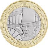2 pound coin Bicentenary of the birth of Isambard Kingdom Brunel | United Kingdom 2006