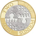 2 pound coin Tercentenary of the Acts of Union 1707 | United Kingdom 2007