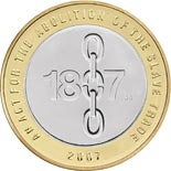 2 pound coin Bicentenary of the abolition of the slave trade in the British Empire | United Kingdom 2007