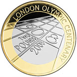 2 pound coin 100th anniversary of the 1908 London Summer Olympics | United Kingdom 2008