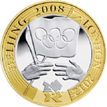 2 pounds London 2012 Olympiad Handover - 2008 - Series: Commemorative 2 pounds coins - United Kingdom