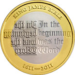 2 pound coin 400th anniversary of the publishing of the King James Bible  | United Kingdom 2011