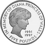 5 pounds Diana, Princess of Wales Memorial Crown  - 1999 - Series: Silver 5 pounds coins - United Kingdom