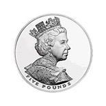 5 pounds The Queen's Golden Jubilee - 2002 - Series: Silver 5 pounds coins - United Kingdom