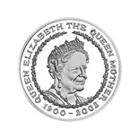 5 pound coin Queen Elizabeth The Queen Mother memorial issue | United Kingdom 2002