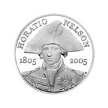 5 pounds 200th anniversary of the death of Horatio Nelson  - 2005 - Series: Silver 5 pounds coins - United Kingdom