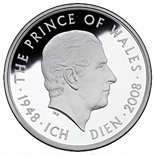5 pounds The 60th Birthday of The Prince of Wales - 2008 - Series: Silver 5 pounds coins - United Kingdom