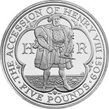 5 pounds The 500th anniversary of the accession of Henry VIII - 2009 - Series: Silver 5 pounds coins - United Kingdom