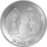 5 pound coin Prince William and Kate Middleton Royal Engagement | United Kingdom 2011