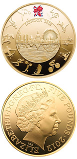 5 pound coin London 2012 Olympic Games  | United Kingdom 2012
