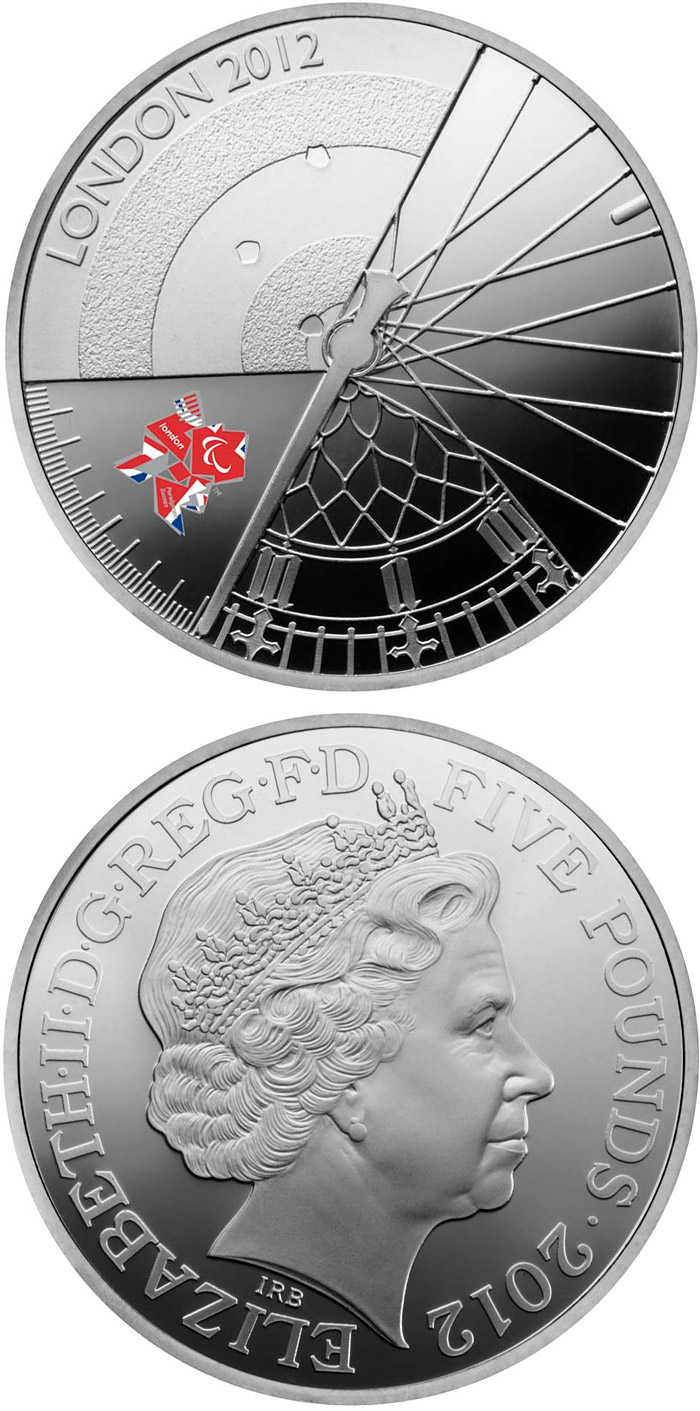 Image of 5 pounds coin - London 2012 Paralympic Games | United Kingdom 2012