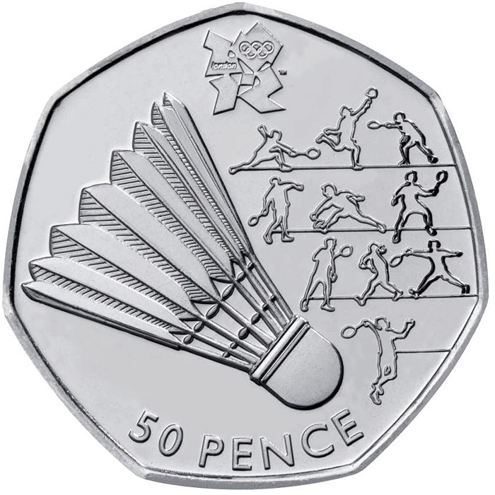 London 2012 50p Sports Collection The 50 Pence Coin