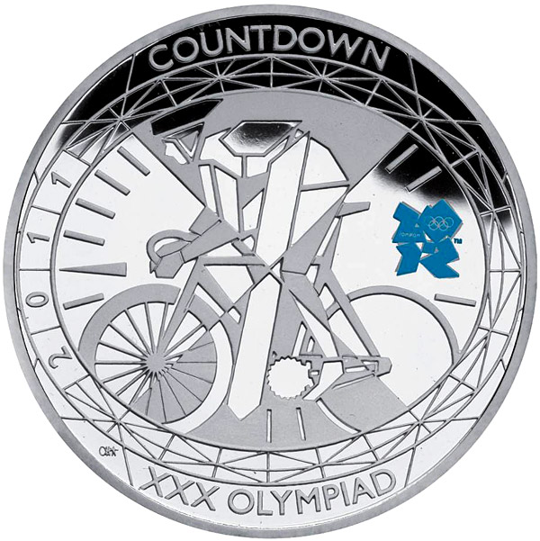 Image of a coin 5 pounds | United Kingdom | Countdown to London 2012 – 1 | 2011