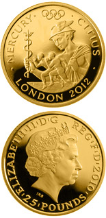 25 pound coin Faster - Mercury  | United Kingdom 2010