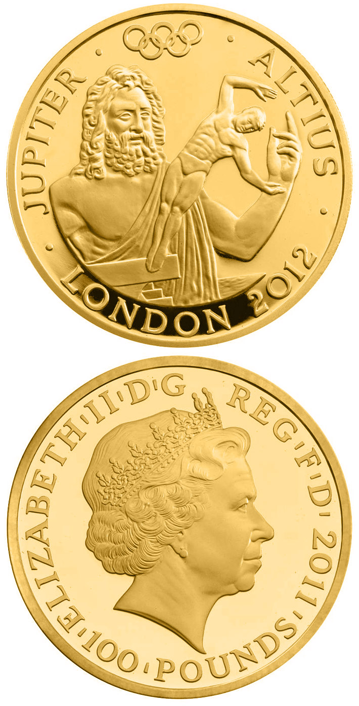 100 pounds Higher - Jupiter  - 2011 - Series: London 2012 Olympic and Paralympic Games - United Kingdom