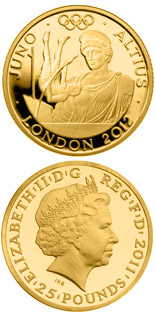 25 pound coin Higher - Juno  | United Kingdom 2011