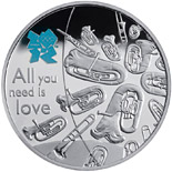 5 pound coin Music | United Kingdom 2010