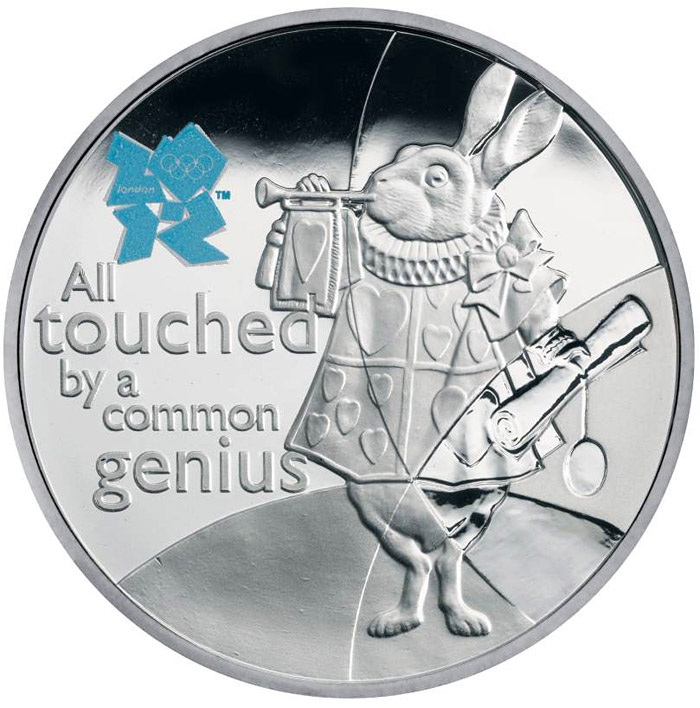 Image of 5 pounds coin – Humour | United Kingdom 2010.  The Silver coin is of Proof quality.