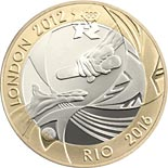 2 pound coin Handover to Rio | United Kingdom 2012