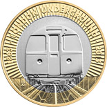 2 pounds 150th Anniversary of the London Underground - The Train - 2013 - Series: Commemorative 2 pounds coins - United Kingdom