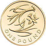 1 pound The Floral Pound: England - 2013 - United Kingdom