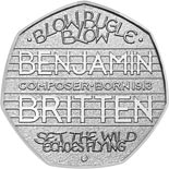 50 pence coin The 100th Anniversary of the Birth of Benjamin Britten | United Kingdom 2013