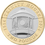 2 pound coin 500th Anniversary Trinity House | United Kingdom 2014