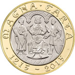 2 pound coin 800th Anniversary of Magna Carta | United Kingdom 2015