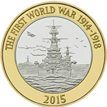 2 pound coin The Royal Navy | United Kingdom 2015