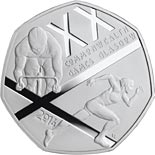 50 pence The Glasgow 2014 Commonwealth Games - 2014 - Series: Commemorative 50 pence - United Kingdom