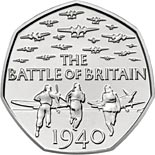 50 pence coin 75th Anniversary of the Battle of Britain | United Kingdom 2015