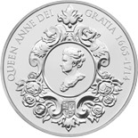 5 pounds 300th Anniversary of Queen Anne - 2014 - Series: Silver 5 pounds coins - United Kingdom