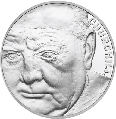 5 pounds The 50th Anniversary of the Death of Sir Winston Churchill  - 2015 - Series: Silver 5 pounds coins - United Kingdom