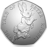 50 pence coin Peter Rabbit | United Kingdom 2017