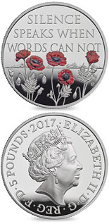 5 pound coin The Remembrance Day 2017  | United Kingdom 2017