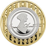 2 pound coin Jane Austen | United Kingdom 2017