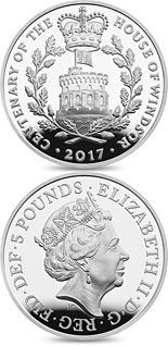 5 pound coin House Of Windsor Centenary | United Kingdom 2017