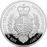5 pound coin The Queen's Sapphire Jubilee  | United Kingdom 2017