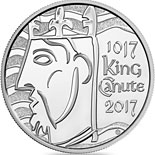 5 pound coin The 1000th Coronation of King Canute | United Kingdom 2017