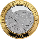2 pound coin The 100th Anniversary of the First World War | United Kingdom 2016